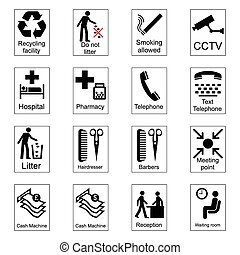informação, público, sinais