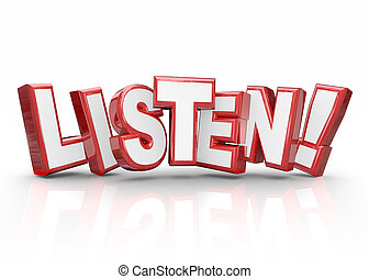 informação, palavra, pagar, atenção, importante, letras, 3d, vermelho, escutar