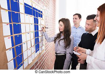 informação, planificação, tecnologia, pessoas negócio