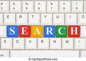 informação, procurar, internet