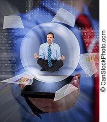 informação sobrecarrega, mantenha, digital, equilíbrio, seu