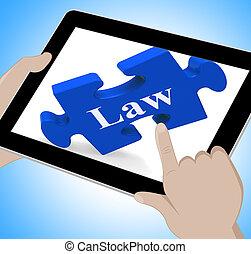 informação, tabuleta, meios, justiça, legal, online, lei