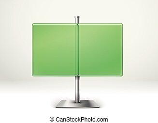 informação, texto, vidro, modelo, em branco, board., transparente