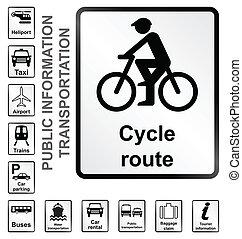 informação, transporte, sinais