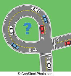 informação, viagem, rua, estrada, carros