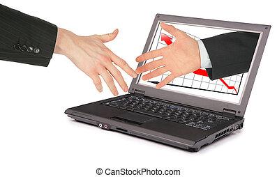 informační technologie, počítač, společenství, koláž