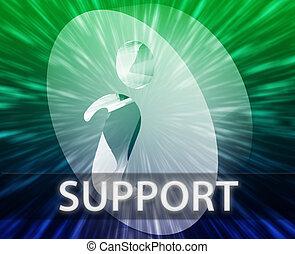información, apoyo