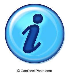 información, botón, tela