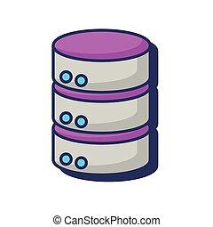 información, centro, base de datos, almacenamiento, servidor, datos