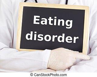 información, comida, doctor, blackboard:, desorden,...
