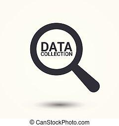 información, concept:, aumentar, óptico, vidrio, con, palabras, datos, colección