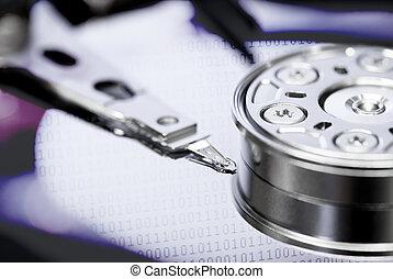 información, concepto, almacenamiento, restaurar, datos,...