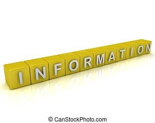 información, cubos, gold: