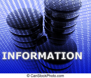 información, datos el almacenamiento
