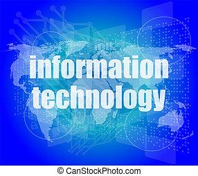 información digital, tecnología, concepto, plano de fondo