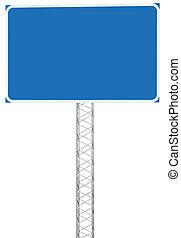 información, dirección, empalme, conducción, señal, autopista, camino, panel
