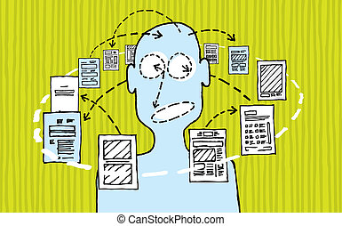 información, diseño, y, diseñador, /, proceso dativo