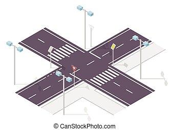 información, empalme, camino, gráfico, fondo., calle, ...