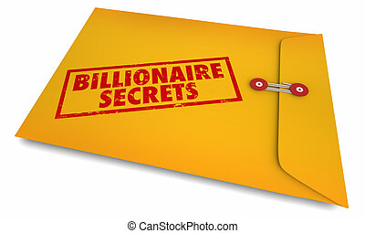 información, estampado, secretos, billonario, sobre, ...