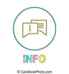 información, estilo, contorno, ilustración, vector, lineal