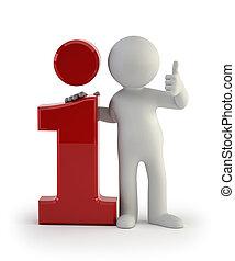 información, gente, -, pequeño, icono, 3d