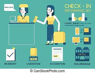 información, gráfico, cheque
