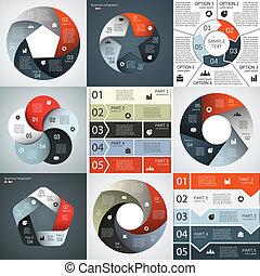 información, gráfico, empresa / negocio, moderno, proyecto, vector