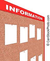 información, junta de papel, hojas