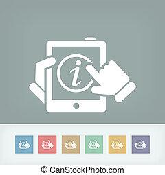 información, móvil, dispositivo