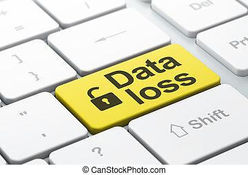 información, palabra, abierto, pérdida, teclado, seleccionado, foco, botón, candado, render, computadora, entrar, icono, datos, concept:, 3d