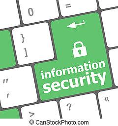 información, palabra, intimidad, botón, teclado, candado, computadora, cerrado, entrar, seguridad, concept:, icono
