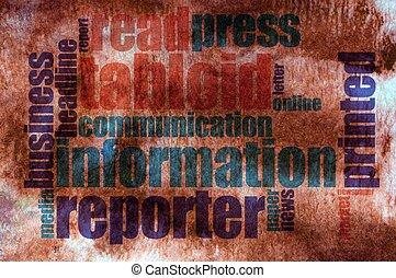 información, palabra, nube
