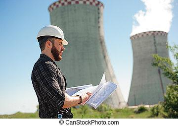 información, potencia, paper., trabajo, ingeniería, cheque, planta