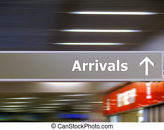 información, turista, llegadas, signage