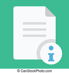 información, vector, documento, icono