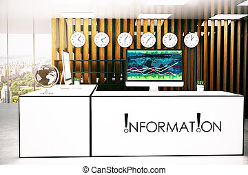 informacja, biurko, z, forex, wykres