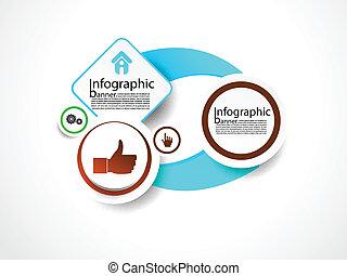 informacja, chorągiew, wektor, graficzny