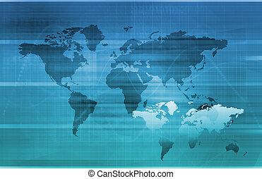 informacja, globalny, technologia