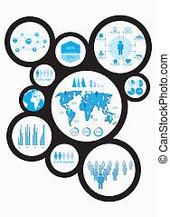 informacja, graficzny, ludzki