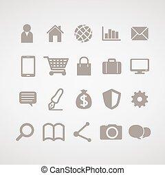 informacja, grafika, -, ikona, regularny