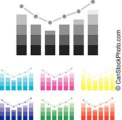 informacja, illustration., infographic, szczegół, grafika