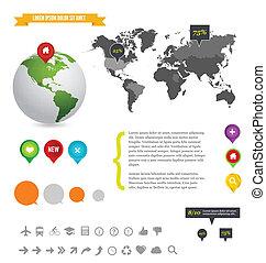 informacja, ilustracja, szczegół, graficzny