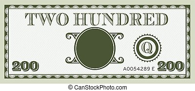 informacja, image., przestrzeń, pieniądze, halabarda, dwa, tekst, dodać, vector., sto, twój