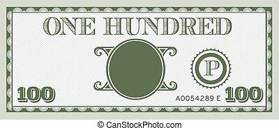 informacja, image., przestrzeń, pieniądze, halabarda, tekst, jeden, dodać, sto, twój