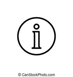 informacja, kreska, cienki, ikona