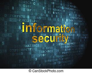 informacja, ochrona, tło, cyfrowy, bezpieczeństwo, concept: