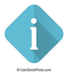 informacja, płaski, ikona