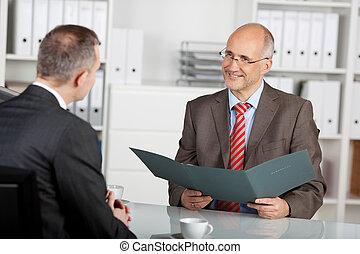informacja, szef, reflektant, przegląd, personel