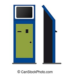 informacja, terminal, kiosk, stać
