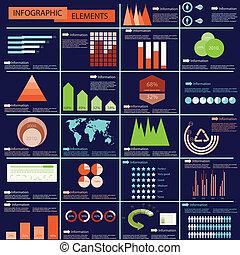 informacja, wektor, graficzny